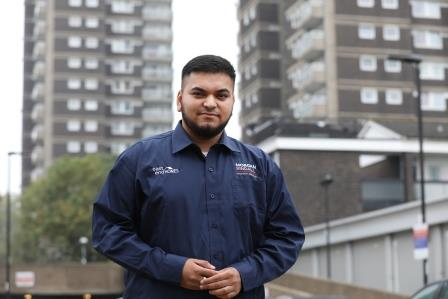 Apprentice Ansar Abdin on the St George's estate