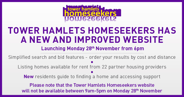 Tower Hamlets Homeseekers update text